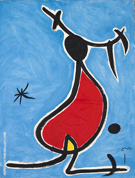Dona Amb Capell Bonic Estel By Joan Miro