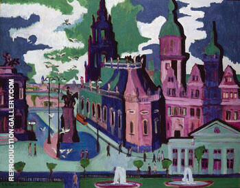 View of Dresden Schlossplatz 1926 By Ernst Kirchner