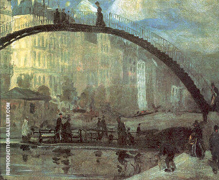 La Villette 1895 Painting By William Glackens - Reproduction Gallery