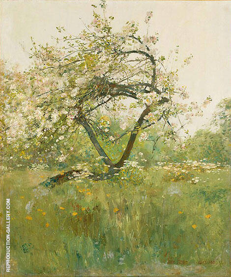 Peach Blossoms Villiers le Bel 1887 By Childe Hassam - Oil Paintings & Art Reproductions - Reproduction Gallery
