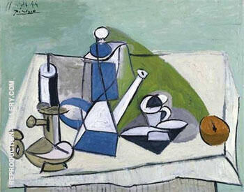 Nature Morte a la Cafetiere 1944 By Pablo Picasso