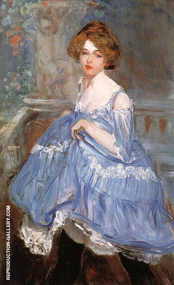 Dancer in blue 1905 Painting By William Glackens - Reproduction Gallery