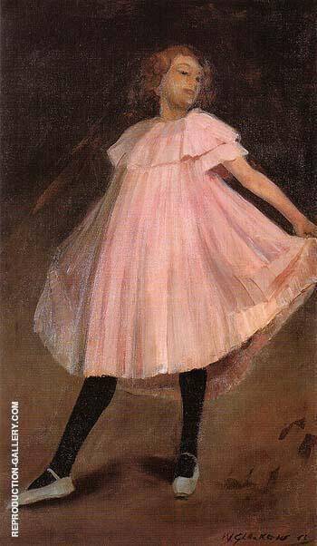 Dancer in Pink Dress 1902 By William Glackens - Oil Paintings & Art Reproductions - Reproduction Gallery