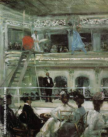 Hammerstein s Roof Garden 1901 By William Glackens - Oil Paintings & Art Reproductions - Reproduction Gallery