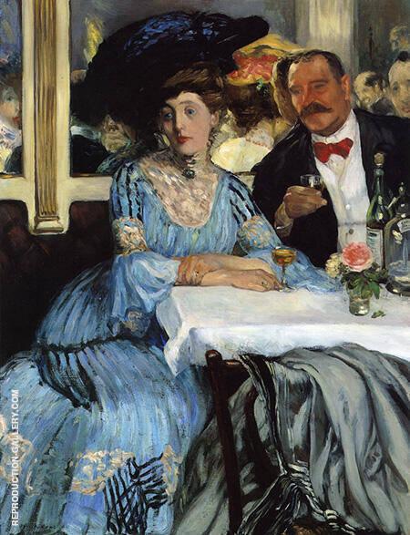 Chez Mouquin 1905 By William Glackens