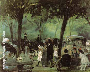 The Drive Central Park 1905 By William Glackens - Oil Paintings & Art Reproductions - Reproduction Gallery