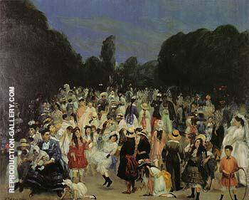 In the Buen Retiro 1906 By William Glackens Replica Paintings on Canvas - Reproduction Gallery