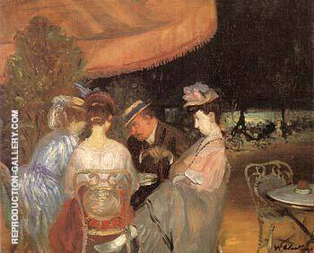 Cafe De La Paix By William Glackens Replica Paintings on Canvas - Reproduction Gallery
