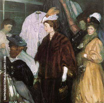 The Shoppers 1908 By William Glackens - Oil Paintings & Art Reproductions - Reproduction Gallery