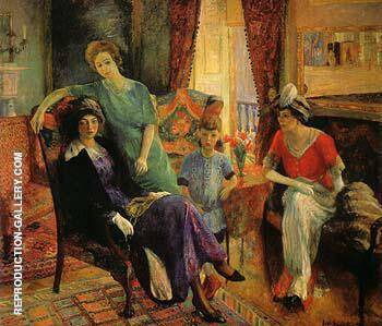 Family Group 1910 By William Glackens - Oil Paintings & Art Reproductions - Reproduction Gallery