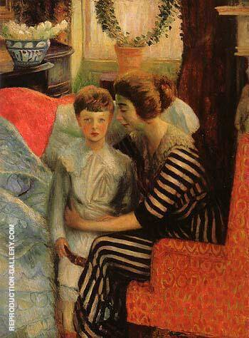 The Artist s Wife and Son 1911 By William Glackens - Oil Paintings & Art Reproductions - Reproduction Gallery