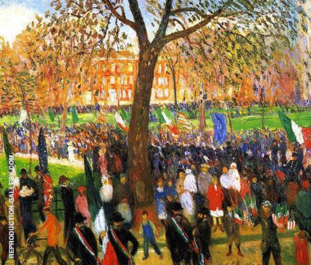 Parade Washington Square 1912 By William Glackens