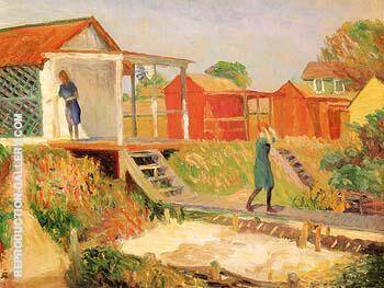 At The Beach Bellport The Boardwalk 1910 By William Glackens