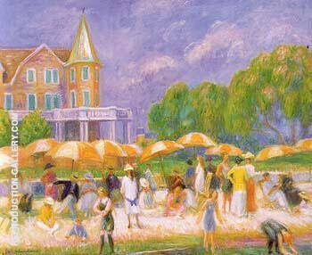 Beach Umbrellas at Blue Point 1916 By William Glackens