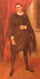 Portrait of Walter Hampden as Hamlet 1919 By William Glackens