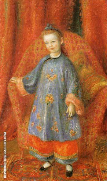The Artist s Daughter in Chinese Costume 1918 Painting By William Glackens