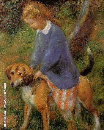 Lenna With Rabbit Hound 1922 By William Glackens