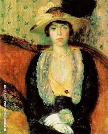 Miss Olga D 1910 Painting By William Glackens - Reproduction Gallery