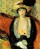 Miss Olga D 1910 By William Glackens