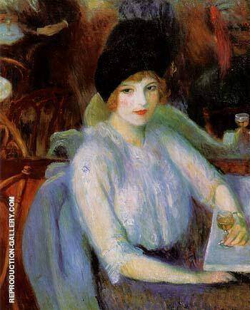 Cafe Lafayette Portrait of Kay Laurel 1914 By William Glackens