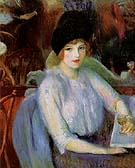 Cafe Lafayette Portrait of Kay Laurel 1914 By William Glackens