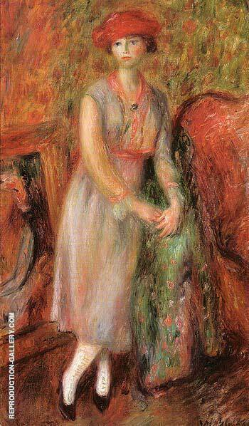 Stand Girl in White Spats 1915 By William Glackens - Oil Paintings & Art Reproductions - Reproduction Gallery