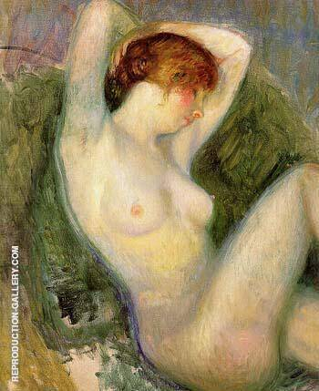 Nude in Green Chair After 1924 By William Glackens - Oil Paintings & Art Reproductions - Reproduction Gallery
