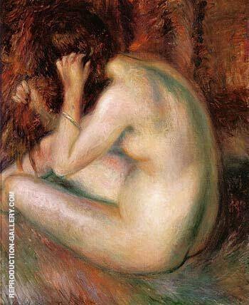Back of Nude 1930 By William Glackens Replica Paintings on Canvas - Reproduction Gallery