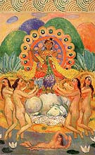Buddha and the Maides Decoration 1916 By William Glackens