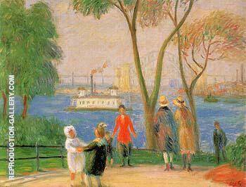 Carl Schurz Park New York 1922 By William Glackens