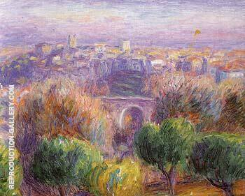 Town of Vence 1925 By William Glackens Replica Paintings on Canvas - Reproduction Gallery