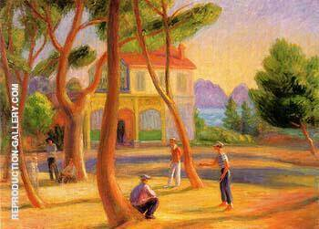 Bowlers La Ciotat 1930 By William Glackens