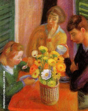 Breakfast Porch 1925 By William Glackens Replica Paintings on Canvas - Reproduction Gallery