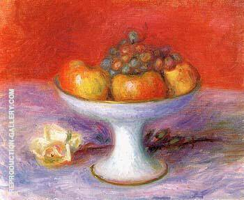 Fruit and a White Rose 1930 By William Glackens
