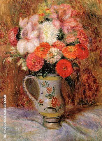 Flowers in a Quimper Pitcher By William Glackens
