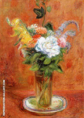 White Rose and Other Flowers 1937 By William Glackens