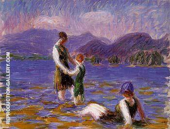 Lake Bathers 1920 By William Glackens Replica Paintings on Canvas - Reproduction Gallery