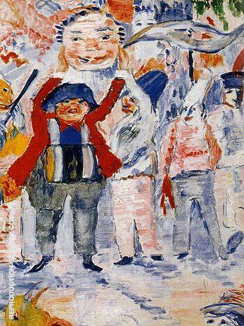 Carnival in Flanders detail Painting By James Ensor - Reproduction Gallery