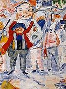 Carnival in Flanders detail By James Ensor