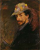 Ensor with Flowered Hat By James Ensor