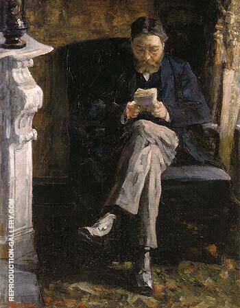 Portrait of the Artist s Father 1881 By James Ensor - Oil Paintings & Art Reproductions - Reproduction Gallery