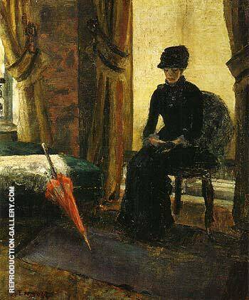 Reproduction of The Somber Lady The Lady in Black 1881 by James Ensor | Oil Painting Replica On CanvasReproduction Gallery