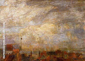 Rooftops of Ostend 1884 By James Ensor - Oil Paintings & Art Reproductions - Reproduction Gallery