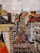 Music in the Rue de Flandre 1891 By James Ensor
