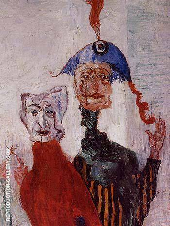 The Strange Masks detail 1892 By James Ensor