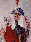 The Strange Masks detail 1892 By James Ensor