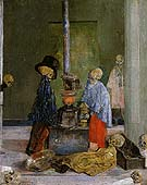 Skeletons Trying to Warm Themselves 1889 By James Ensor