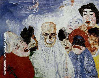 Death and the Masks 1897 By James Ensor - Oil Paintings & Art Reproductions - Reproduction Gallery