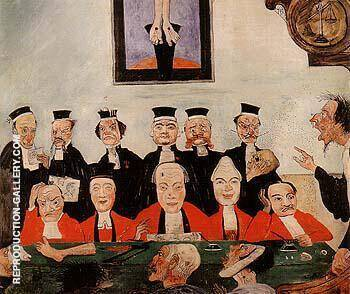The Wise Judges 1891 Painting By James Ensor - Reproduction Gallery