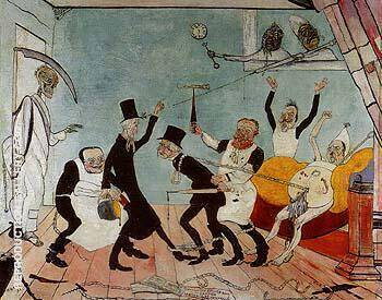The Bad Doctors 1892 By James Ensor - Oil Paintings & Art Reproductions - Reproduction Gallery